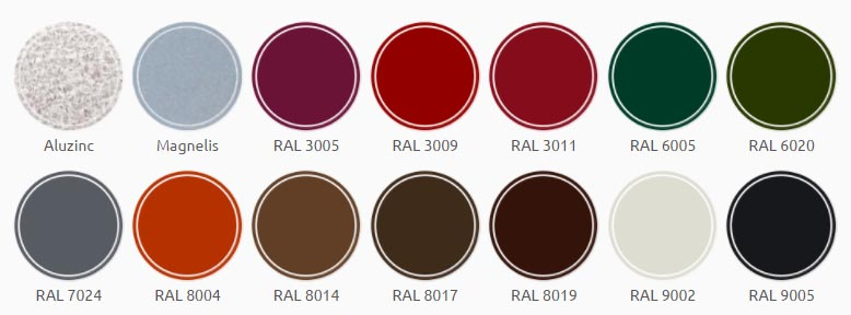 Paletar culori sistem pluvial